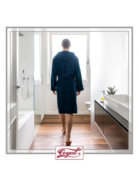 BATHROBE MAN BASIC BLUE ROBE