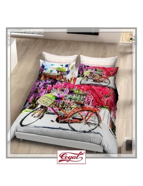 BED SET COTTON GRAPHIC TIME