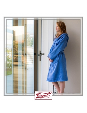 BATHROBE WOMAN BASIC BLUE ROBE