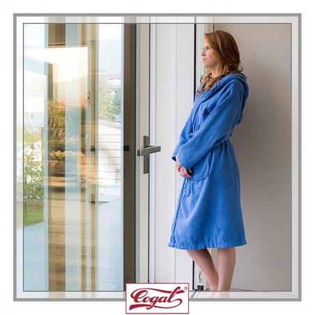 Bathrobe Women - BASIC Blue robe