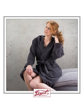 BATHROBE WOMAN CLASSIC BLACK ROBE